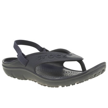 Crocs Navy Hilo Flip K Boys Junior