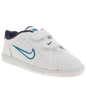 Boys Nike White & Blue Court Tradition 2 Plus Boys Junior