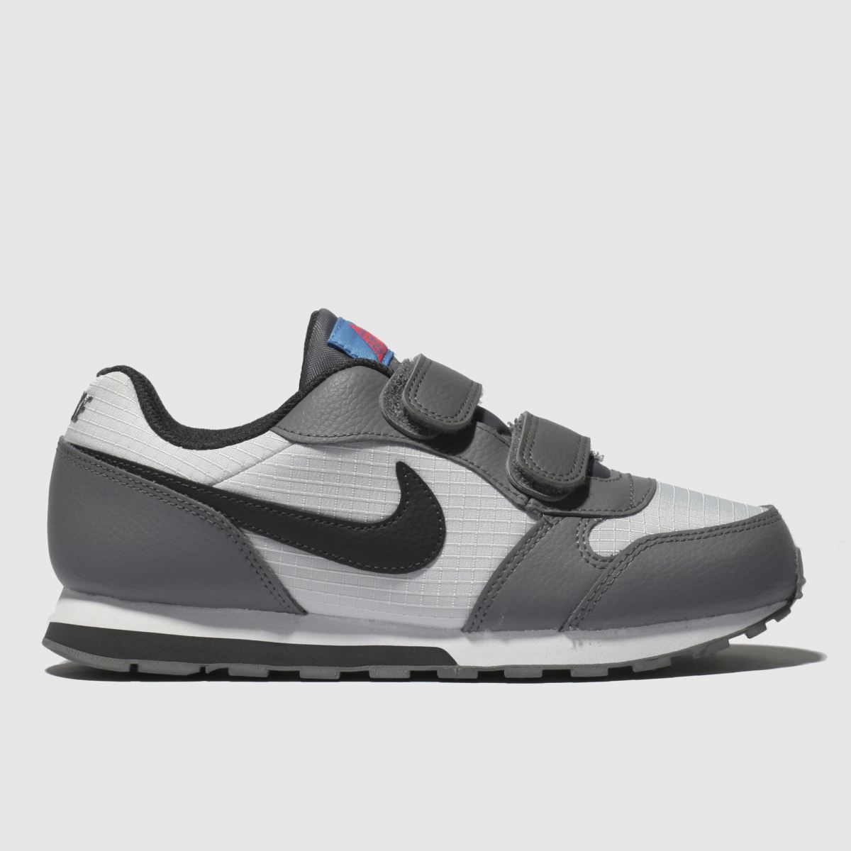 Nike White & Grey Md Runner 2 Trainers Junior