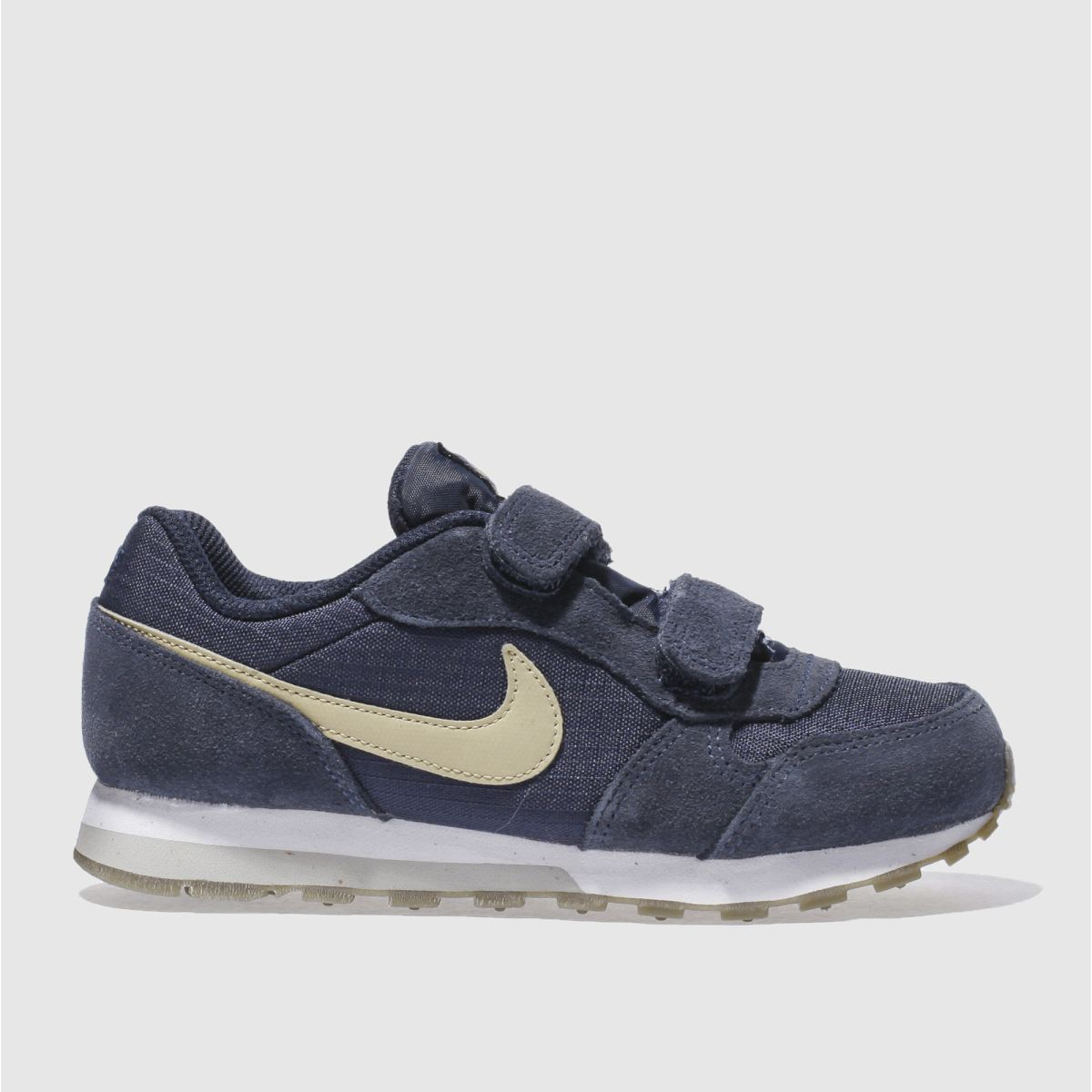 nike navy & stone md runner 2 Boys Junior Trainers