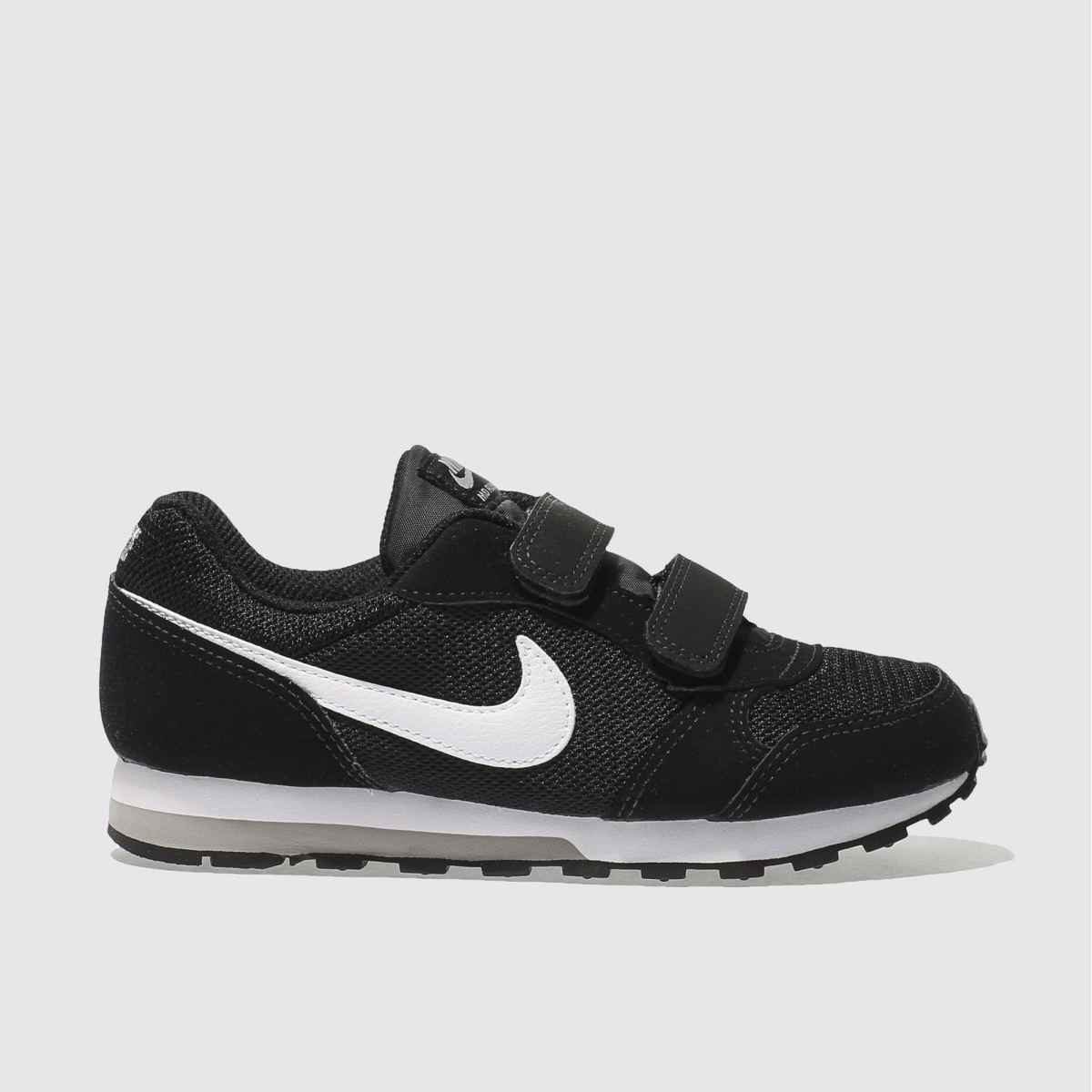 Nike Black & White Md Runner 2 Trainers Junior