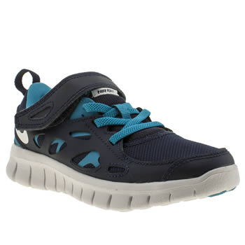 Boys Nike Navy Free 2-0 Boys Junior