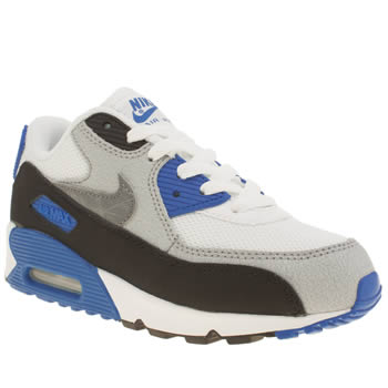 Nike White & Blue Air Max 90 Mesh Boys Junior