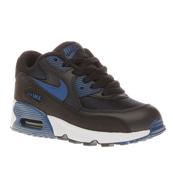 Nike Navy & Black Air Max 90 Mesh Boys Junior