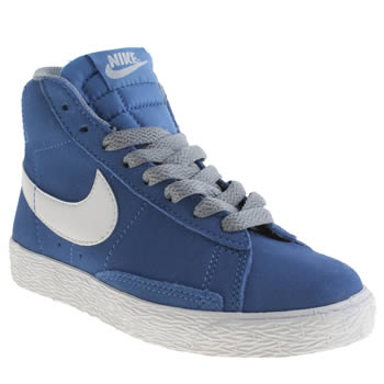 Boys Nike Blue Blazer Mid Vintage Boys Junior