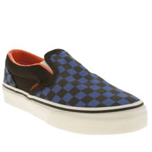 Junior Black & Navy Vans Classic Slip