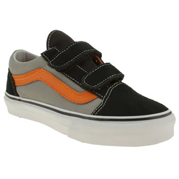 Boys Vans Black & Grey Old Skool V Boys Junior