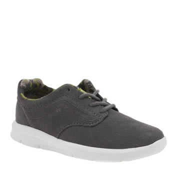 Boys Vans Grey & Lime Iso 1-5 Boys Junior