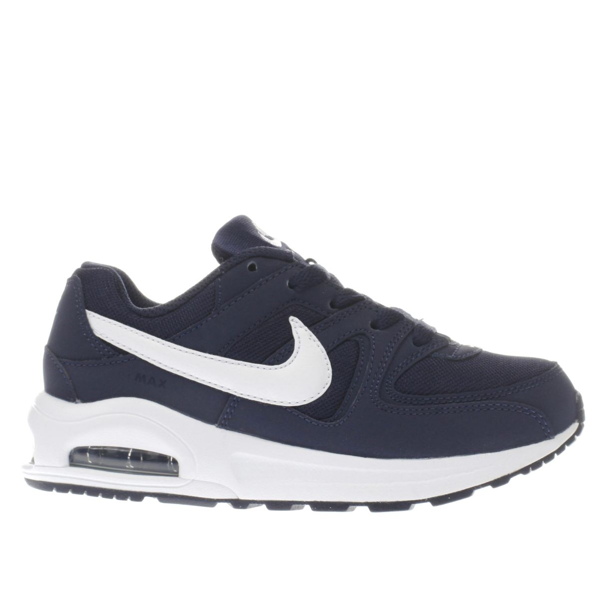 nike navy & white air max command Boys Junior Trainers