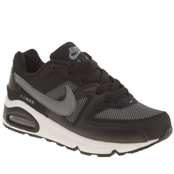 Nike Black & Grey Air Max Command Boys Junior