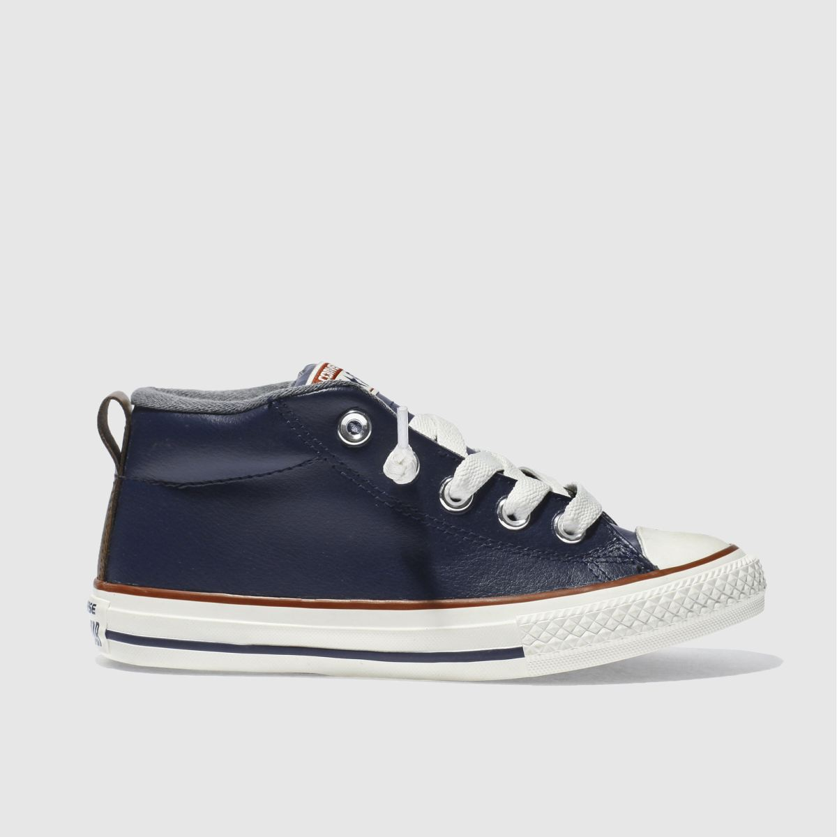 converse navy all star street mid Boys Junior Trainers