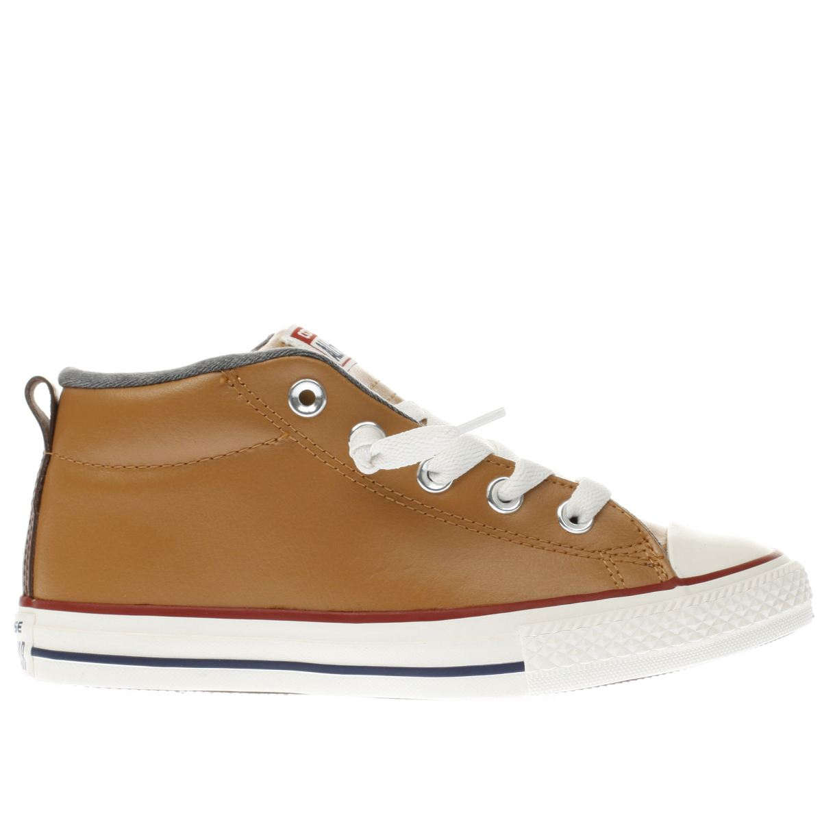 converse tan all star street mid Boys Junior Trainers