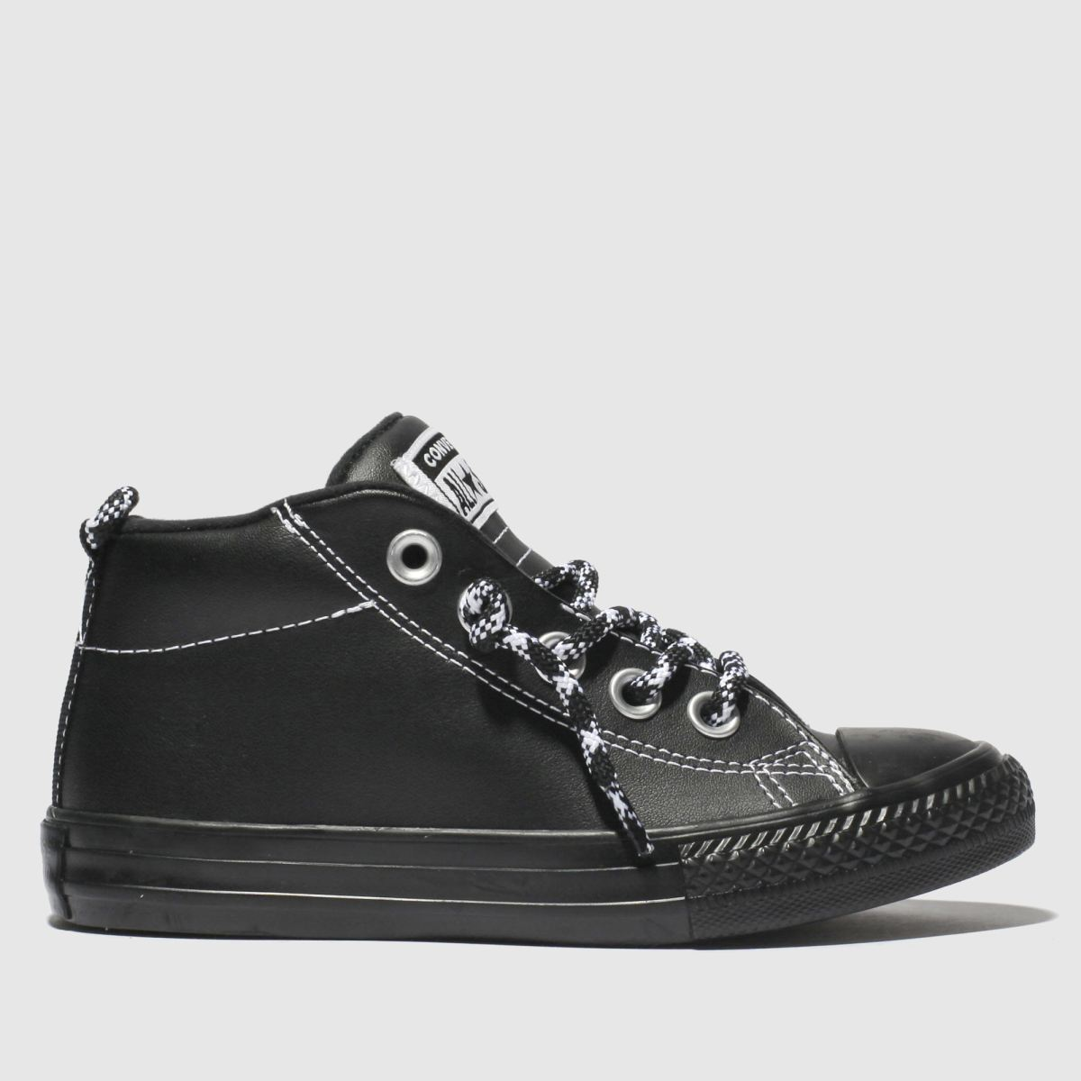 Converse Black & White All Star Street Mid Trainers Junior