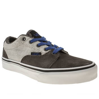 Boys Vans Grey & Navy Kress Boys Junior