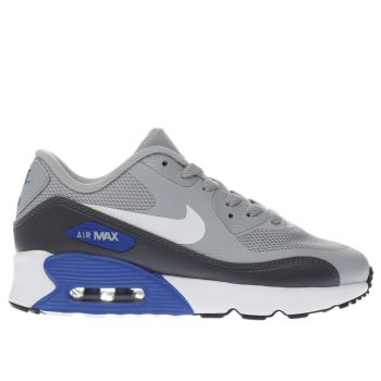 Nike Grey Air Max 90 Ultra Jnr Boys Junior