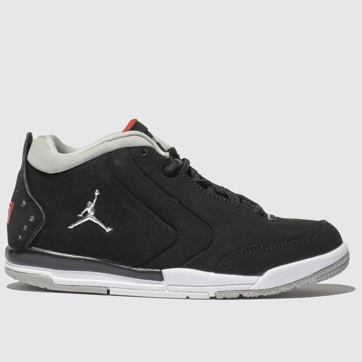Nike Jordan Black & Silver Jordan Big Fund Trainers Junior
