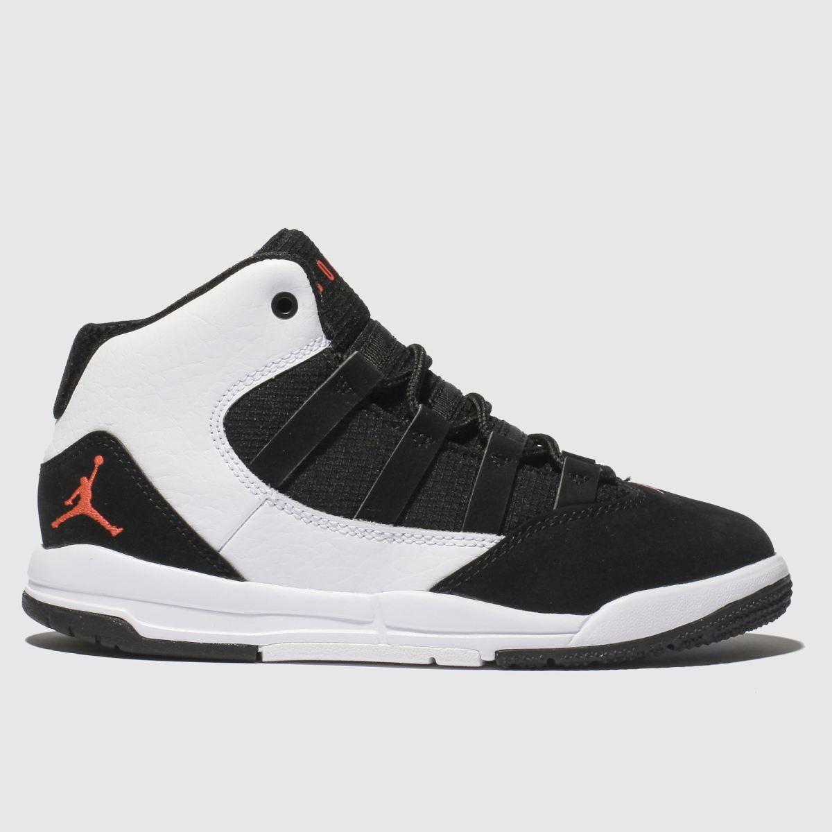 Nike Jordan White & Black Nike Jordan Max Aura Trainers Junior