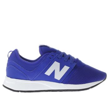 NEW BALANCE BLUE 247 BOYS JUNIOR TRAINERS