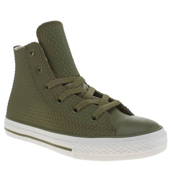 Boys Converse Green All Star Rubber Hi Boys Junior