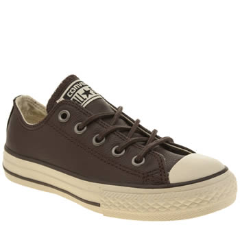 Boys Converse Dark Brown All Star Winter Warm Boys Junior