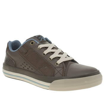 Skechers Brown & Pl Blue Diamondback Boys Junior
