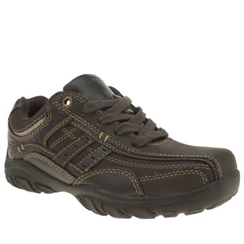 Skechers Dark Brown Grambler Boys Junior