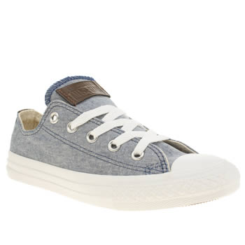 Converse Navy All Star Lo Boys Junior