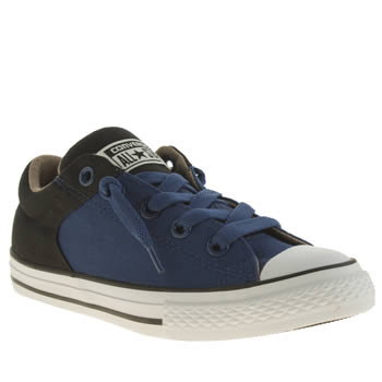 Converse Navy & Black All Star High Street Lo Boys Junior