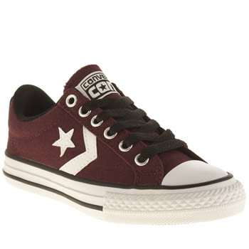 Boys Converse Burgundy Star Player Tre Star Boys Junior