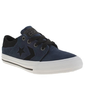 Boys Converse Navy & Black Star Player Tre Star Boys Junior