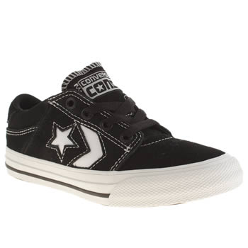 Boys Converse Black & White Star Player Tre Star Boys Junior