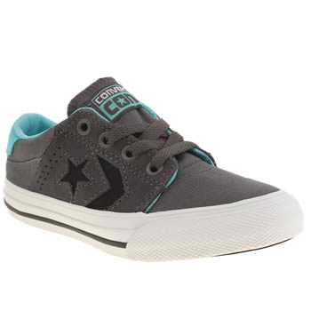 Boys Converse Dark Grey Star Player Tre Star Boys Junior