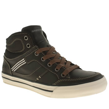 Skechers Black & Brown Planfix Bowen Boys Junior