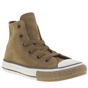Boys Converse Brown All Star Hi Suede Boys Junior