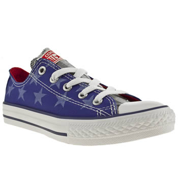 kids converse blue all star ox trainers