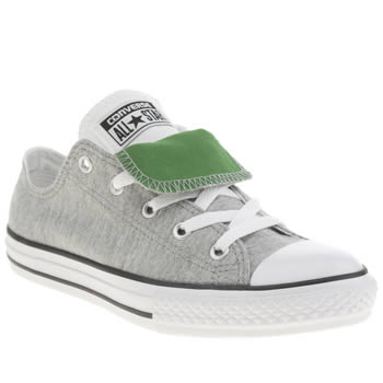 Converse Light Grey All Star Ox Boys Junior