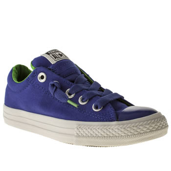 kids converse blue all star street ox trainers