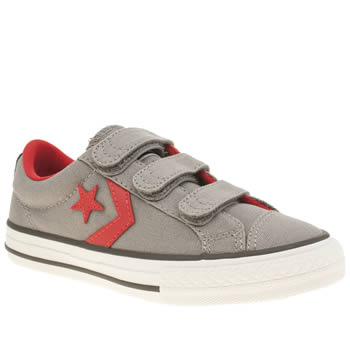 Boys Converse Light Grey Star Player Oxford Boys Junior