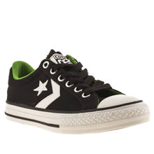 Junior Black & White Converse Star Player Ox