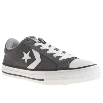 Boys Converse Dark Grey Star Player Oxford Boys Junior
