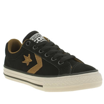 Converse Black & Gold Star Player Ox Boys Junior