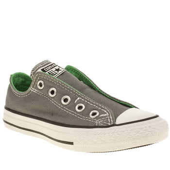 Converse Grey All Star Slip On Ox Boys Junior
