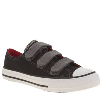 Converse Black & Grey All Star Ox 3v Boys Junior