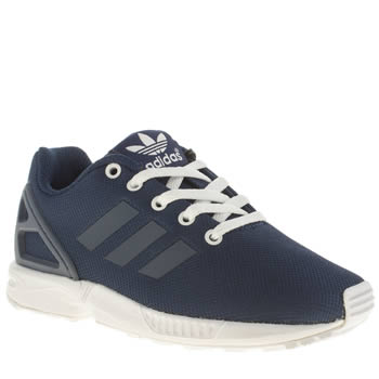 Boys Adidas Blue Zx Flux Boys Junior