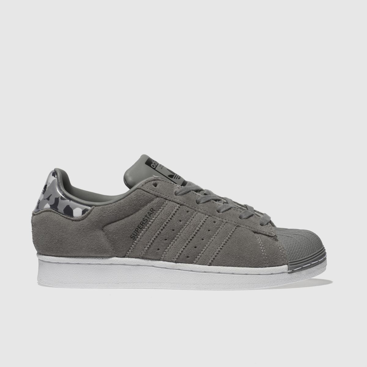Adidas Grey Superstar Trainers Junior