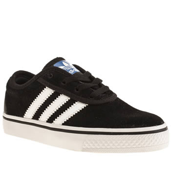 Boys Adidas Black & White Adi Adiease Boys Junior