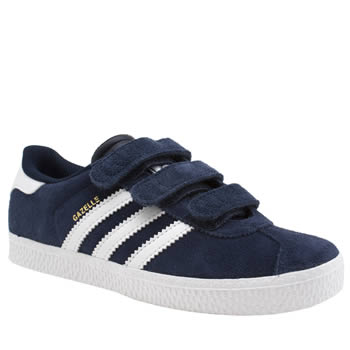 Adidas Navy & White Gazelle 2 Boys Junior