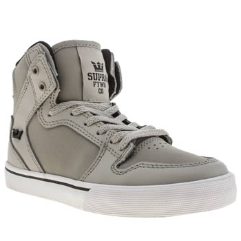 Supra Light Grey Vaider Boys Junior