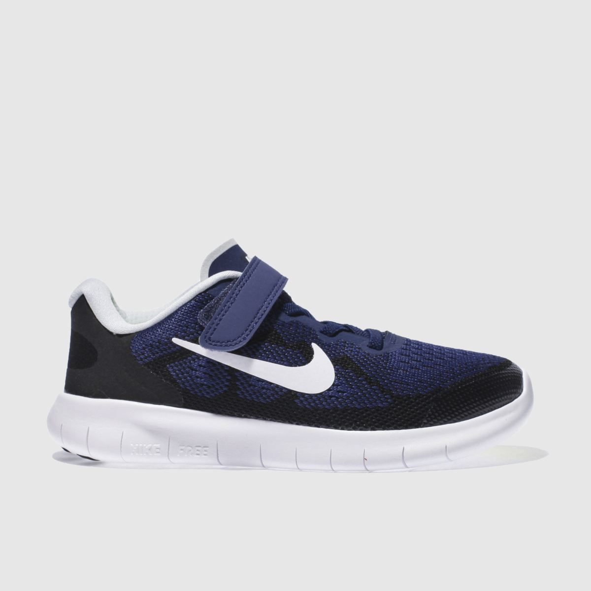 nike navy & black free run 2 Boys Junior Trainers