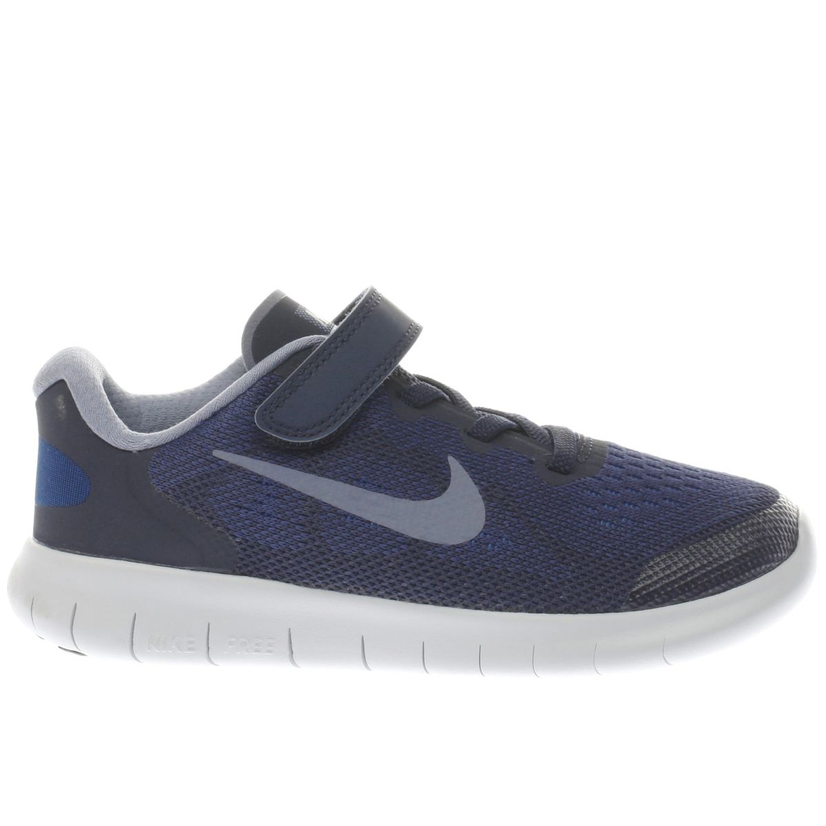 nike navy free run 2 Boys Junior Trainers